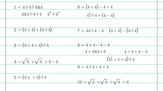 Four 4s Sample