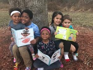 family reading books