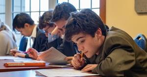 upper school student working